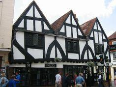 Image of Half Timbered House in Salisbury Beautiful Homes, Most Beautiful, Oak Framed Buildings, Tudor, Britain, Medieval, England, Houses, Salisbury