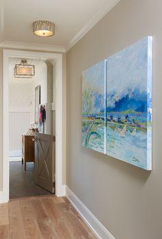 "2015 Mpls.St.Paul Magazine ASID MN Showcase Home - ""Mudroom Hallway"" (Benjamin Moore HC-172 Revere Pewter)"