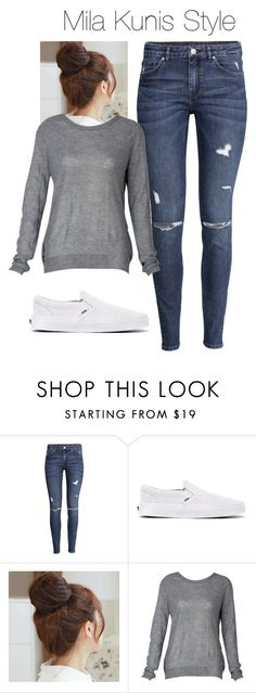 """Mila Kunis style"" by vika-garan on Polyvore featuring мода, H&M, Vans, Pin Show и casuallook"