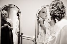 Mommy watching her daughter get ready. Dove Wedding Photography. LOVE this.