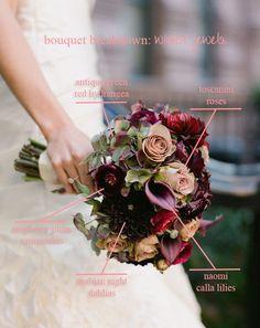 Bouquet Breakdown - Winter Jewels via Elizabeth Fortune