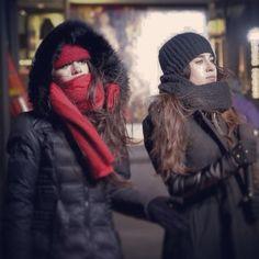 Camren // Camila Cabello and Lauren Jauregui Get A Girlfriend, Camila And Lauren, Winter Hats, Winter Jackets, Foto Real, Dinah Jane, Fifth Harmony, Havana, Canada Goose Jackets