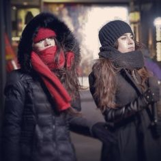 Camren // Camila Cabello and Lauren Jauregui Fith Harmony, Get A Girlfriend, Camila And Lauren, Winter Hats, Winter Jackets, Dinah Jane, Ally Brooke, Havana, Canada Goose Jackets