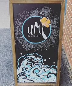 First of all, this chalkboard is hand drawn. Second, my salmon lover poke bowl was so good I forgot to take a picture. 🤷‍♀️🍣🍚 #reclaimedbyyou #loveoec .  .  .  .  .  #ellicottcity #howardcounty #visitoec #maryland #pokebowl #sushi #yum
