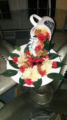 Fuente de flores para recuerdo de mesa