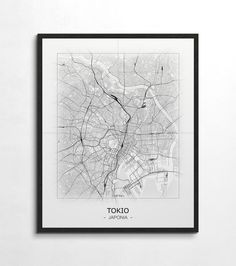 Plakat - mapa - Tokio  Gdzie kupić? www.eplakaty.pl