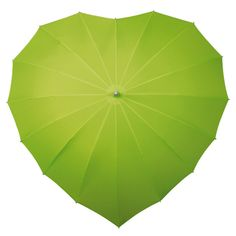 Citrus Green Heart Umbrella has a unique shape and windproof design. It is available in a spectrum of bright or subdued colours. Has a fibreglass frame,
