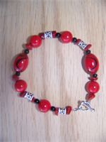 Lovely Red and Silver   $20.00