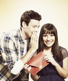 Cory Monteith and Lea Michele.... My heart is breaking for her....