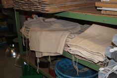 brocante zakken, leuk om stoelhoezen van te maken