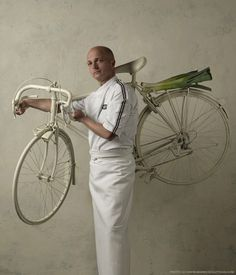 Cook Ben van Beurten   Boretti & Rabo Wielerploeg : One of an excellent series of chef portraits