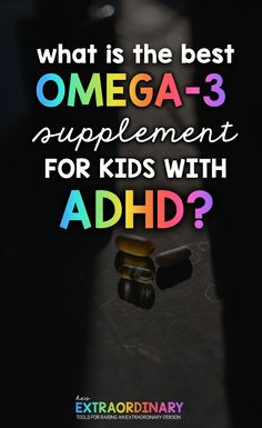 A high quality supplement is the most important nutritional supplement you can give to your ADHD child. It is an essential fat required for the brain to make dopamine. Adhd And Autism, Adhd Kids, Best Omega 3 Supplements, Benefits Of Omega 3, Adhd Medication, Notes To Parents, Adhd Strategies, Impulsive Behavior, Adhd Symptoms