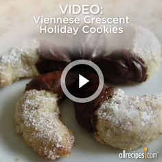 "The secret to these Viennese Crescent Holiday Cookies is the butter and the real flecks of vanilla bean seeds. ""Like"" if you want to try these this year. http://allrecipes.com/video/951/viennese-crescent-holiday-cookies/detail.aspx"