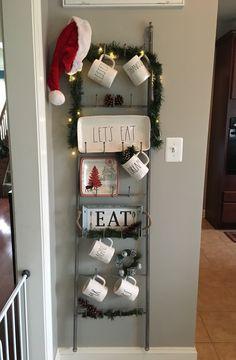 Rae Dunn Christmas display