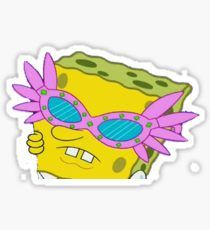 Shady Spongebob Sticker- redbubble- $2.91