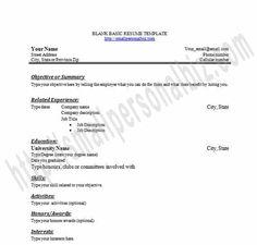 free printable editable blank resume template in word for freshers - Free Blank Resume Templates For Microsoft Word