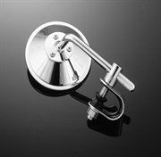Short Stem Clamp-On Round Mirror Chopper Scooter Retro Jammer cheap as chips and badass to boot Round Mirrors, Bobber, Chopper, Clamp, Badass, Chips, Retro, Potato Chip, Choppers