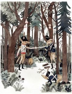 """illustration by Carson Ellis from """"Wildwood,"""" written by Colin Meloy"""