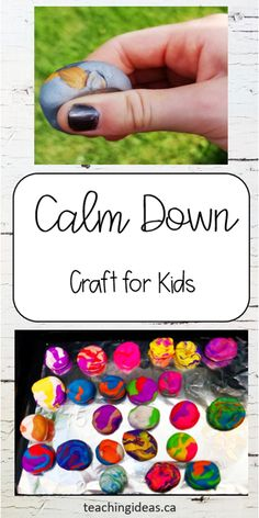 Find different ways for kids to calm down. Hand made by each child these sensory stones can help children relax and calm down. #calmdown #waysforkidstocalmdown #worrystone #sensoryactivities #mindfulness #mindfulnessactivitiesforkids Art Activities For Kids, Sensory Activities, Therapy Activities, Learning Activities, Kids Learning, Crafts For Kids, Mental Health Activities, Health And Physical Education, Kids Mental Health