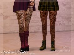Dissia's Spiderweb Tights Sims 4 Challenges, Sims4 Clothes, Turtleneck Bodysuit, Fishnet Tights, The Sims4, Made Clothing, Sims 4 Mods, Sims 4 Custom Content, Pleated Midi Skirt