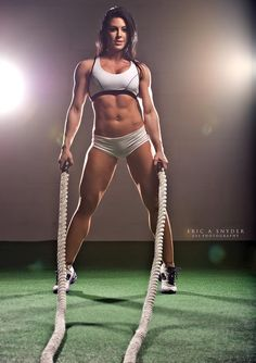 BATTLE-ROPES WORKOUT w/ exotic muscle babe, WBFF Figure Pro & #Fitness model Shannon Petralito : if you LOVE Health, Workouts & #Inspirational Body Goals - you'll LOVE the #Motivational designs at CageCult Fashion: http://cagecult.com/mma