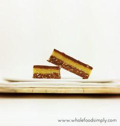 jaffa slice by Wholefood Simply Raw Desserts, Sugar Free Desserts, Paleo Dessert, Healthy Dessert Recipes, Raw Food Recipes, Snack Recipes, Snacks, Healthy Sweets, Healthy Baking