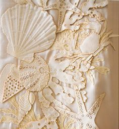 seashell lace - I'd just hang a piece of this in my room and look at it every day.