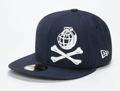 TRAINERSPOTTER x NEW ERA「Grenade Bones」59Fifty Fitted Baseball Cap