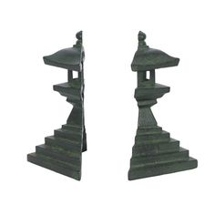 Metal Pagoda Bookends
