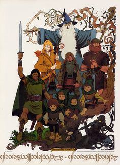 The Fellowship of the Ring by Mike Ploog (from Ralph Bakshi's Lord of the Rings)