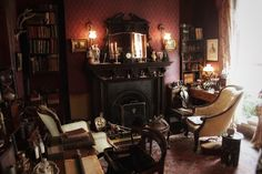 """An intimate look at the rooms of Baker Street as portrayed at the Sherlock Holmes Museum in London."" from Rey Anasco 221b Baker Street, Book Nooks, Sherlock Holmes, Timeline, Home Appliances, Museum, Rooms, London, Home Decor"