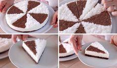 Torta Fredda Cocco e Cioccolato Ricetta Facile Senza Cottura – No Bake Chocolate Coconut Cake Recipe
