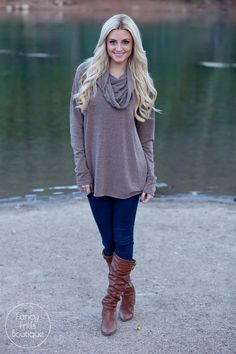 Cowl Neck Tunic Sweater! | Jane