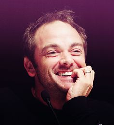 <3 #MarkSheppard, so cute when he's not being the King of Hell, lol~