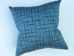 Mid Century Modern Design Accent Pillow   Reversed Pattern By Luna Textiles    17
