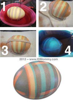 Easter Eggs: 3 Rubber Band Methods