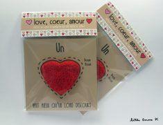 """Little Emma K : Carte """"Love, Coeur,  Amour pour la saint valentin ♥"""