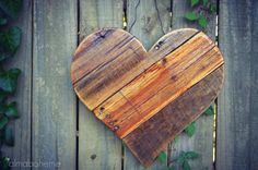 Rustic Reclaimed Wood Hearts  spring summer wood by AlmaBoheme