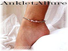 Dance Ankle Bracelets with Charms   Faith Message Charm Anklet Silver Chain Ankle Bracelet Pink Bead