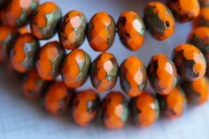 Picasso Donut Bead Soup Beads Donut Czech Glass Beads Small Rondelle 3mm Opaque Luster Picasso Rondelle