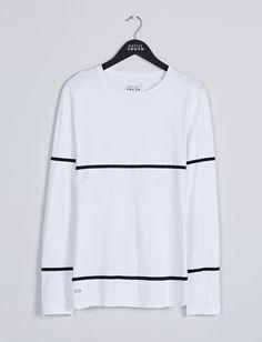 Riggs Long Sleeve Tee - White/Black