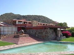 Taliesin West was designed by Frank Lloyd Wright in the and now is home to the Frank Lloyd Wright School of Architecture and is a National Historic Landmark. Architecture Design, Organic Architecture, School Architecture, Amazing Architecture, Casas De Frank Lloyd Wright, Frank Lloyd Wright Homes, Scottsdale Arizona, Lebbeus Woods, Wisconsin