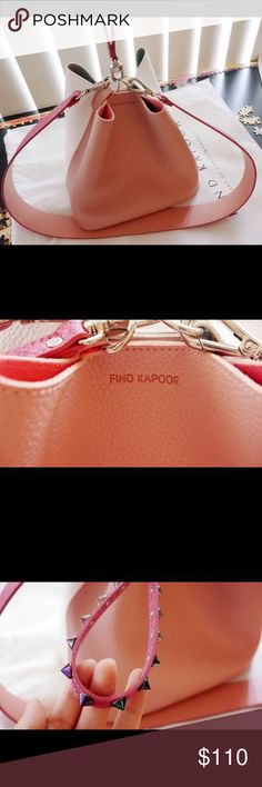 Find Kapoor Pingo Bag set Pink Combo Korean Brand Hardly used. Pink combination set, with a pink studs hand strap, a deep pink and pink combination shoulder strap, and light pink and white bag body. You can wear it in three ways: in the hand, across the body and on the shoulder. Light weight, very soft texture. It's a unique daily bag that you can match with any style. Imported from Korea. Find Kapoor Bags Shoulder Bags