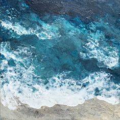 Beauty of the Deep, encaustic seascape painting by Lee Anne LaForge | Effusion Art Gallery + Cast Glass Studio, Invermere BC Bear Paintings, Cute Paintings, Seascape Paintings, Landscape Paintings, Cast Glass, Canadian Artists, Painted Doors, Winter Landscape, Art Gallery