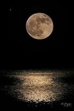 Full Moon With Jupiter