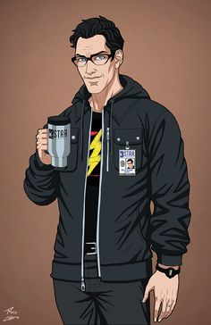 Harrison Wells commission by phil-cho on DeviantArt Flash Characters, Superhero Characters, Dc Comics Characters, Dc Comics Art, Marvel Dc, Superman, Batman, Star Labs, Super Hero Costumes