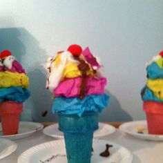 Ice Cream Art...yep my assistant Ashley and I came up with this :)