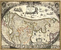 Antique maps, old maps, vintage maps of all regions of the world for sale by Leen Helmink Antique Maps. We sell authentic antique maps, sea charts and atlases. Old World Maps, Old Maps, Vintage Maps, Antique Maps, Holland Map, Ship Map, Map Sketch, Map Globe, World Geography