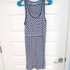 Loft striped nautical dress  Spring/summer dress from loft! Timeless dress. Looks great with heels! Willing to negotiate price‼️‼️ LOFT Dresses Asymmetrical