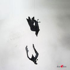 Raven Dance Sculpture - Hanging Sculpture - Bird in Flight